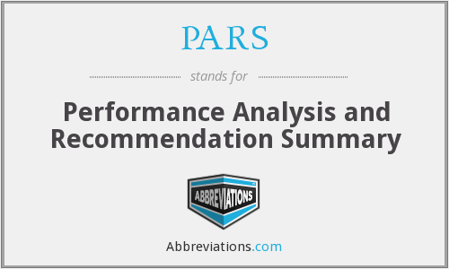PARS - Performance Analysis and Recommendation Summary