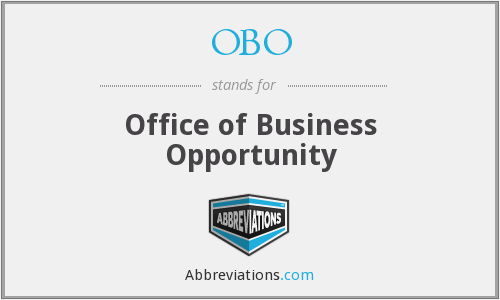 OBO - Office of Business Opportunity