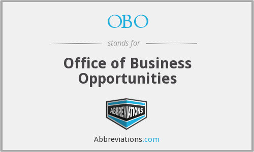 OBO - Office of Business Opportunities