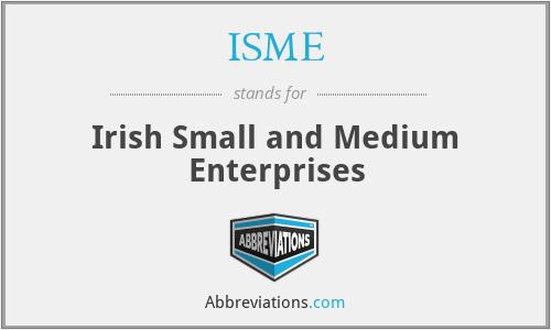 ISME - Irish Small and Medium Enterprises