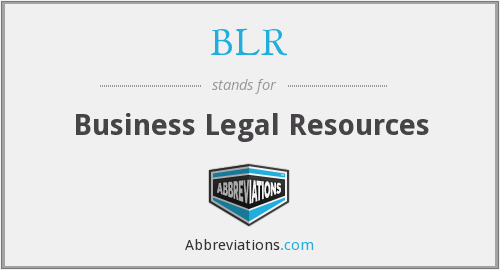 BLR - Business Legal Resources