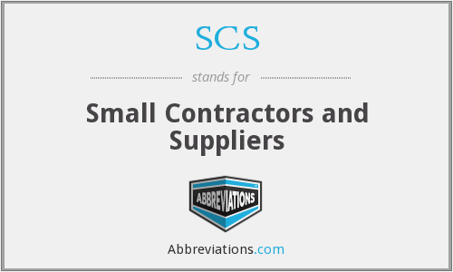 SCS - Small Contractors and Suppliers