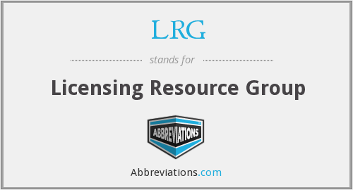 LRG - Licensing Resource Group