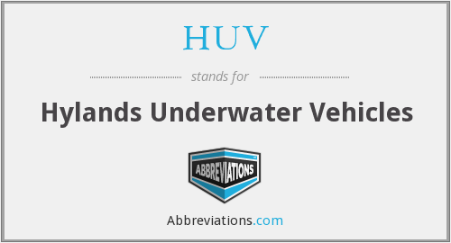 HUV - Hylands Underwater Vehicles