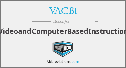 What does VACBI stand for?