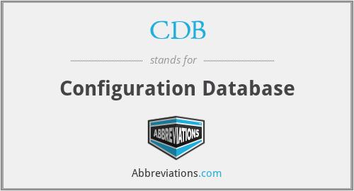 CDB - Configuration Database