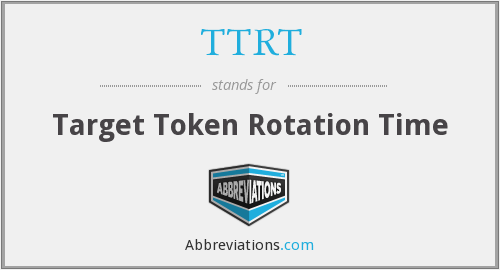 What does TTRT stand for?
