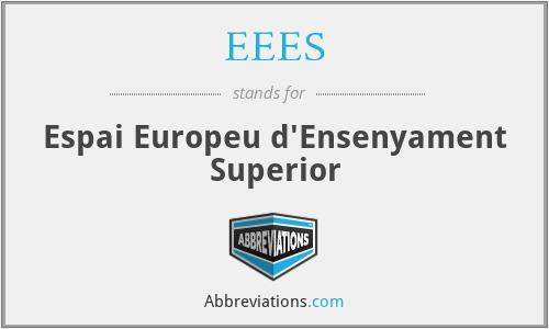 EEES - Espai Europeu d'Ensenyament Superior