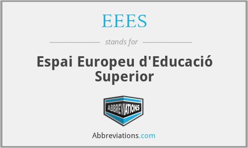 EEES - Espai Europeu d'Educació Superior