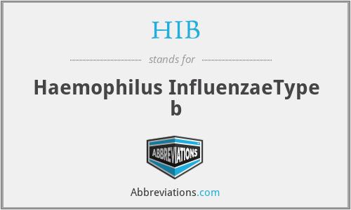 HIB - Haemophilus InfluenzaeType b