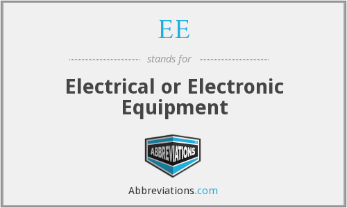 What does EE stand for?