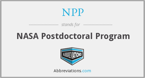 NPP - NASA Postdoctoral Program