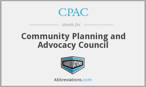 CPAC - Community Planning and Advocacy Council