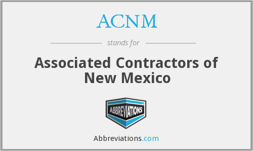 ACNM - Associated Contractors of New Mexico