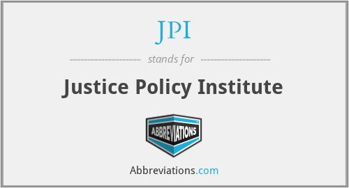 JPI - Justice Policy Institute