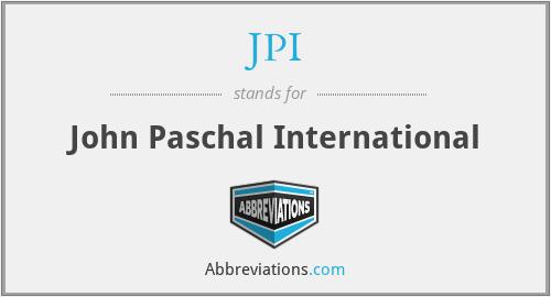 JPI - John Paschal International