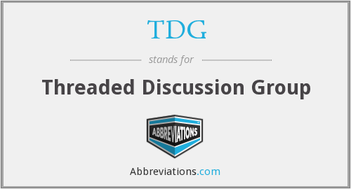 TDG - Threaded Discussion Group