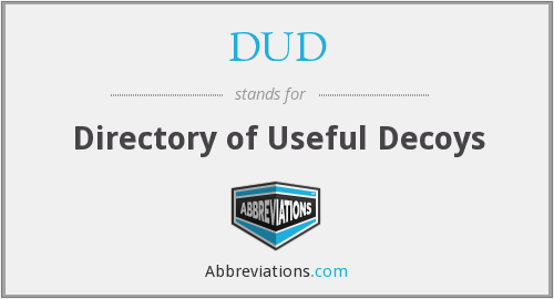 DUD - Directory of Useful Decoys