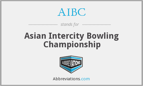AIBC - Asian Intercity Bowling Championship