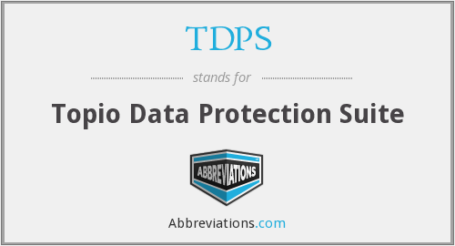 What does TDPS stand for?