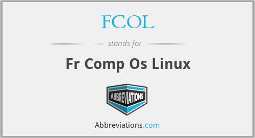 FCOL - fr comp os linux