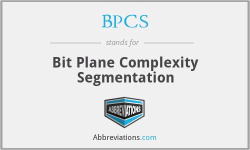 BPCS - Bit Plane Complexity Segmentation