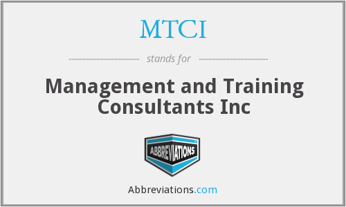MTCI - Management and Training Consultants Inc
