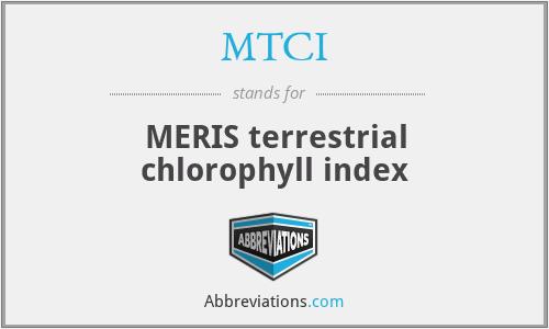 MTCI - MERIS terrestrial chlorophyll index