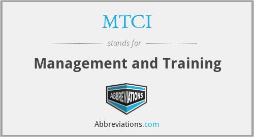 MTCI - Management and Training