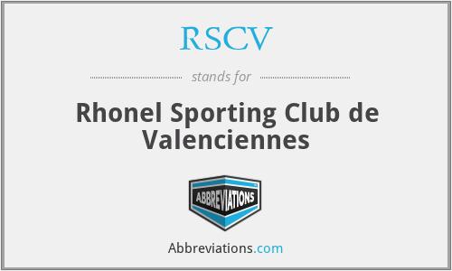 RSCV - Rhonel Sporting Club de Valenciennes