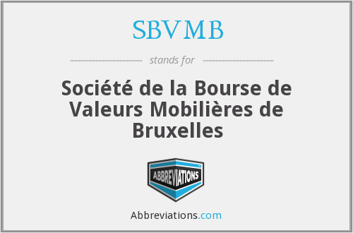 What does SBVMB stand for?