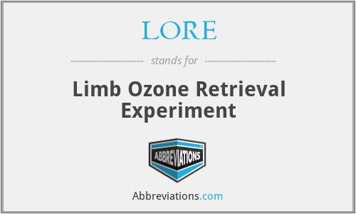 LORE - Limb Ozone Retrieval Experiment