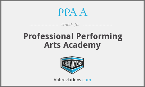 PPAA - Professional Performing Arts Academy