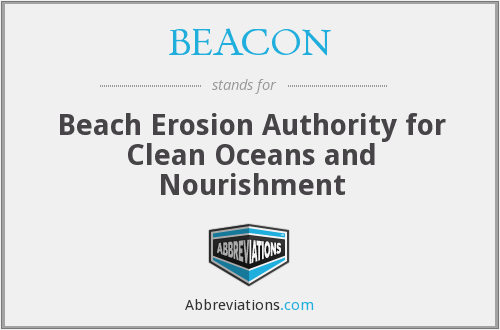 BEACON - Beach Erosion Authority for Clean Oceans and Nourishment