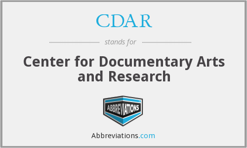 CDAR - Center for Documentary Arts and Research