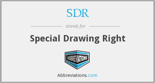 SDR - Special Drawing Right