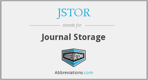 What does JSTOR stand for?