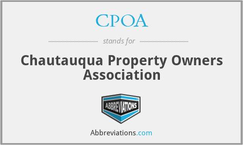 CPOA - Chautauqua Property Owners Association