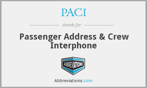 PACI - Passenger Address & Crew Interphone