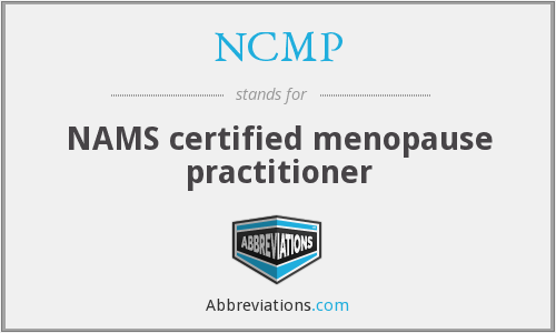 NCMP - NAMS certified menopause practitioner