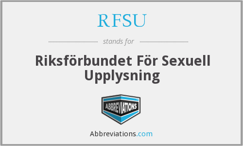 What does RFSU stand for?