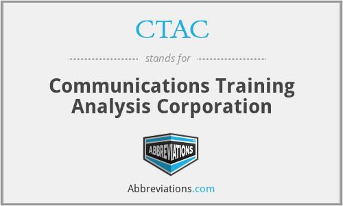 CTAC - Communications Training Analysis Corporation