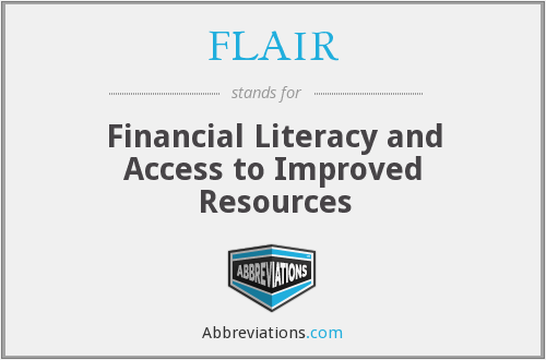 FLAIR - Financial Literacy and Access to Improved Resources