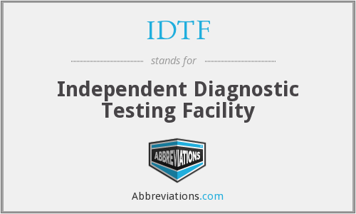 What does IDTF stand for?