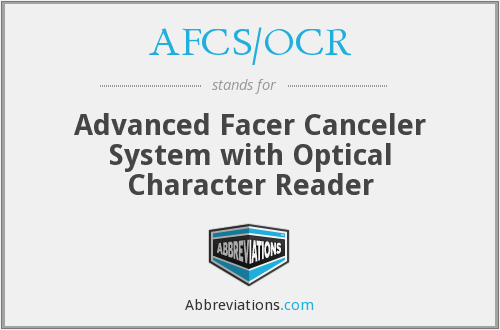 What does AFCS/OCR stand for?
