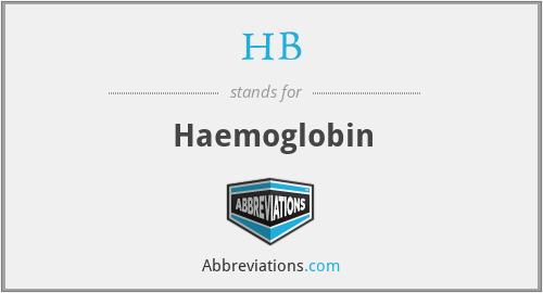 HB - Haemoglobin