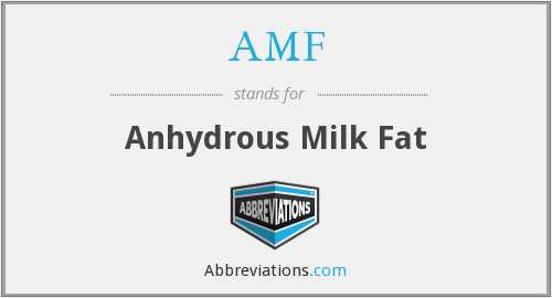 AMF - Anhydrous Milk Fat