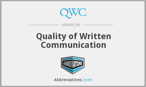 QWC - Quality of Written Communication