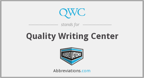 QWC - Quality Writing Center