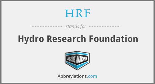 HRF - Hydro Research Foundation